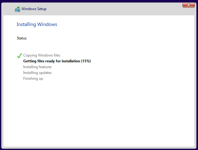 安装 Windows