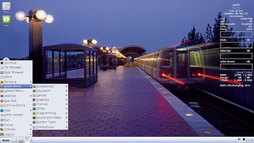 antiX 17.2 屏幕截图