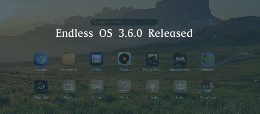 Linux发行版 Endless OS 3.6.0 发布!