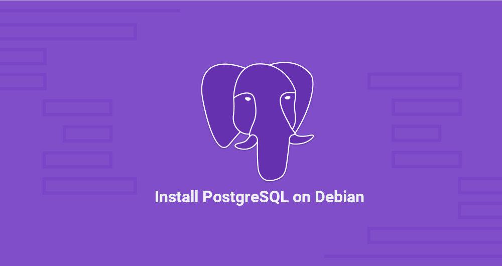 Install PostgreSQL On Debian