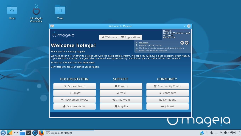 Mageia 6.1 截图