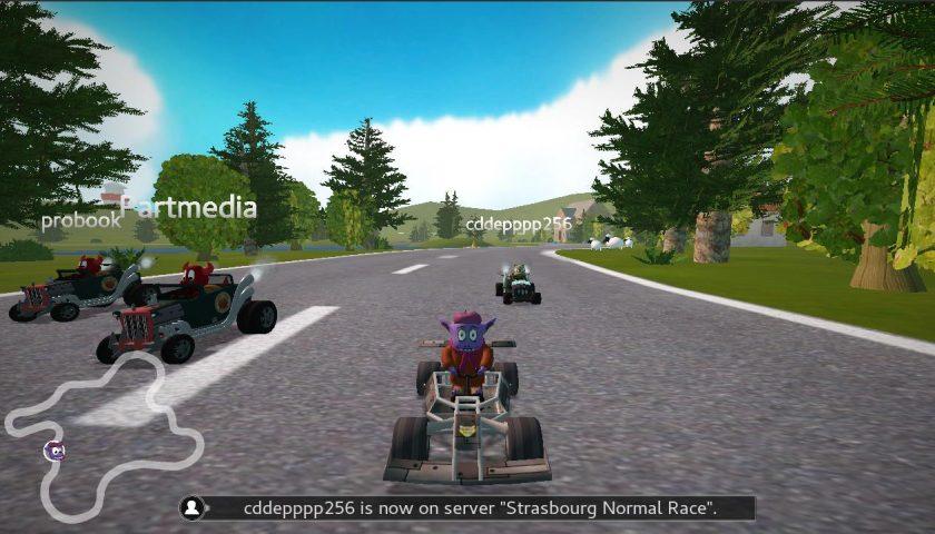 SuperTuxKart 卡丁车在线多人游戏已准备好进行测试