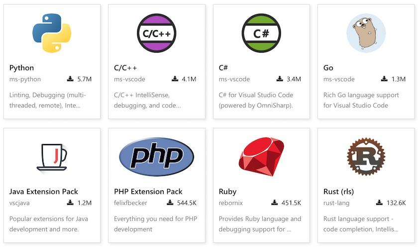 VS Code 语言扩展